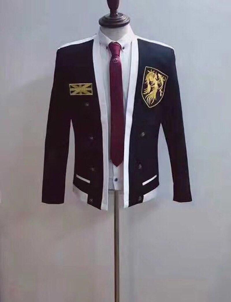 New High Quality Men Jacket Nightclub Bar Singer Dj Ds Costume Men Stage Costumes Slim B ...