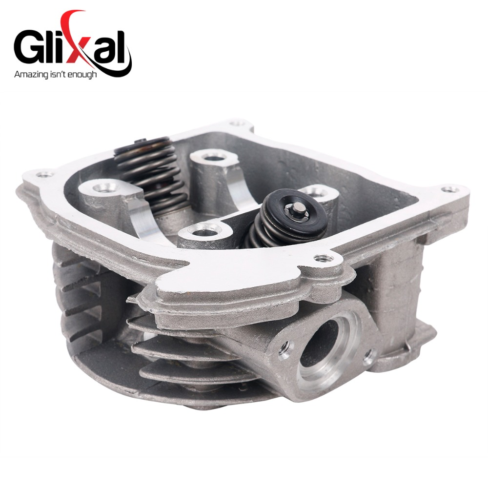 Glixal GY6 100cc Chinese Scooter Engine 50mm Big Bore Cylinder Head Assy  for 4T 139QMB 139QMA Roketa ZNEN Moped (69mm valves)