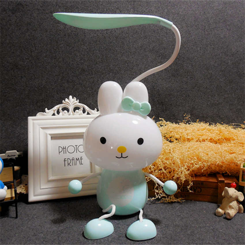 Good Jw_creative Cute Cartoon Rabbit Table Lamps Childrens Room Night Lights Hanging Feet Led Table Lights Usb Rechargeable Lamp Lustrous Surface Desk Lamps Lights & Lighting