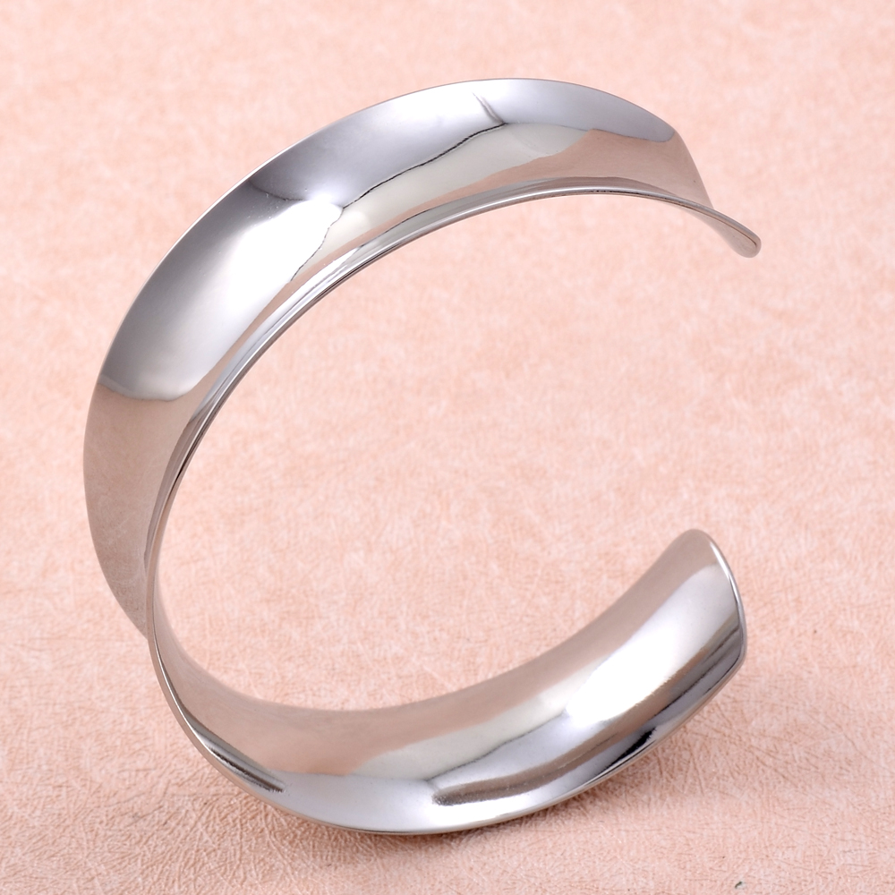 IJB0508 New Designer Stainless Steel Wide Blank Shiny Arm Cuff ...