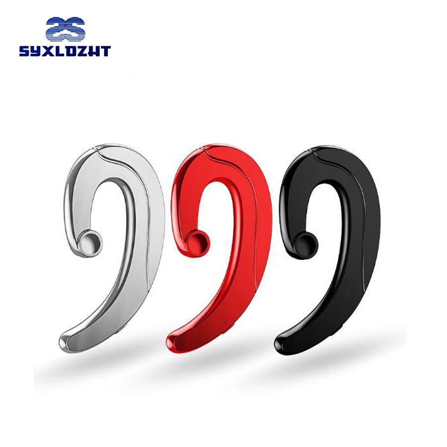 Single Ear Hook Bluetooth Earphone wireless Headphone Handsfree Mic Microphone for Phone Car Driver Wireless Business Headset