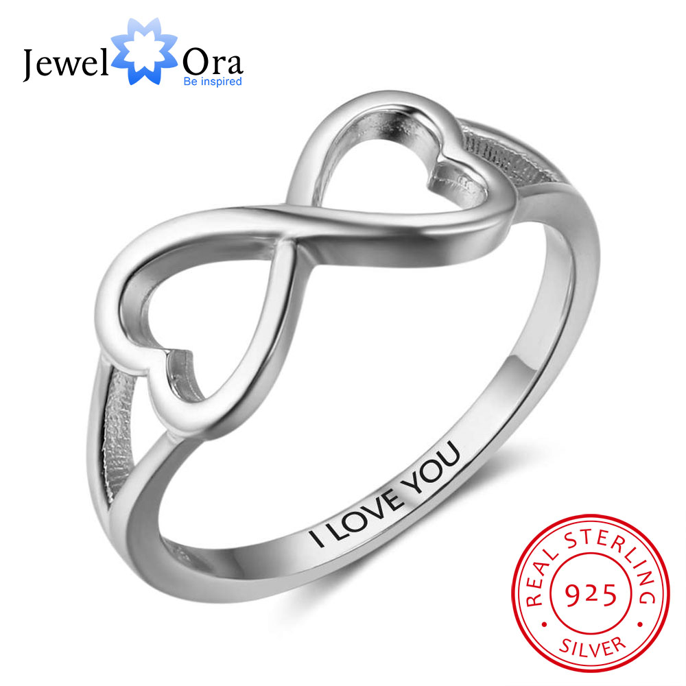 925 sterling silver infinity eternity love ring wedding for Infinity ring jewelry store