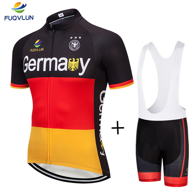 FUQVLUN 2018 Breathable Cycling Jersey / Germany Bike Cycling Clothing / Cycle Clothes Wear Ropa Ciclismo Sportswear -5DF6