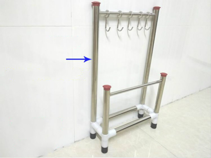 Kitchen Towel Drying Rack Kitchen Wash Clothes Holder with Storage Rack for Spoon Knife and Fork Other Cooking Tool Hanger in Racks Holders from Home Garden