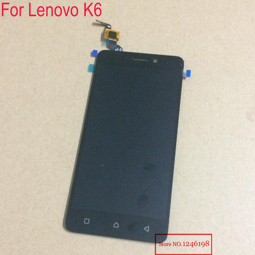 Top Quality NEW Black White Gold Replacement LCD Display Touch Digitizer Screen Assembly For Lenovo K6 Phone parts 5pcs lot official original new a quality screen for 6s lcd display black white