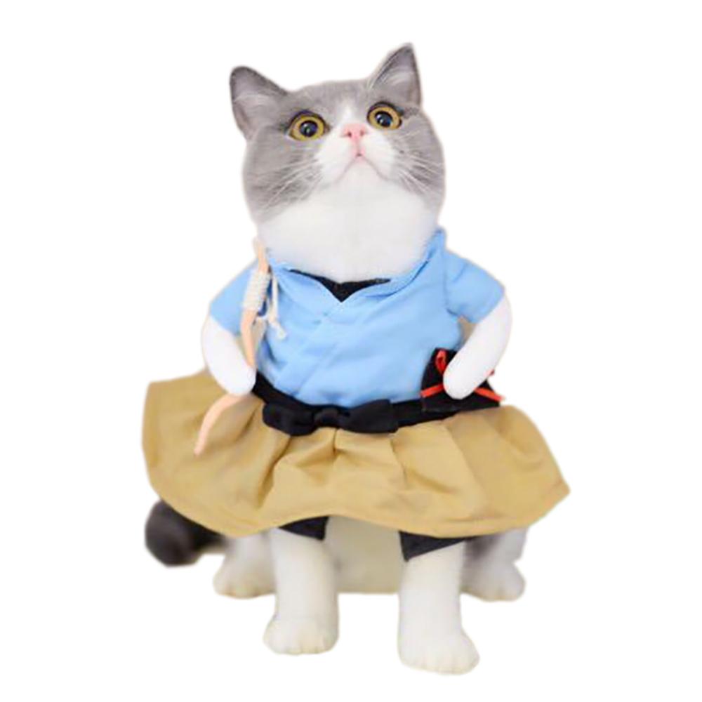 Adorable Dog Cat Costumes Urashima Taro Cosplay Suit Pet Apparel Halloween Christmas Clothes For Puppy Dog Costume for a cat