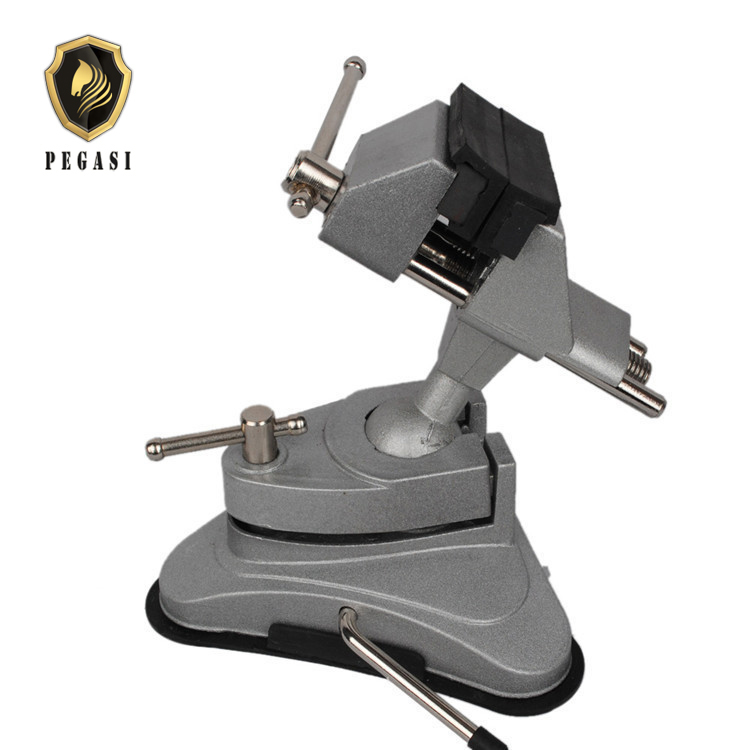 PEGASI High Quality Manual Control Machine Tools Accessories Aluminum Swivel Base Table Bench Vise Vice Clamp Tool