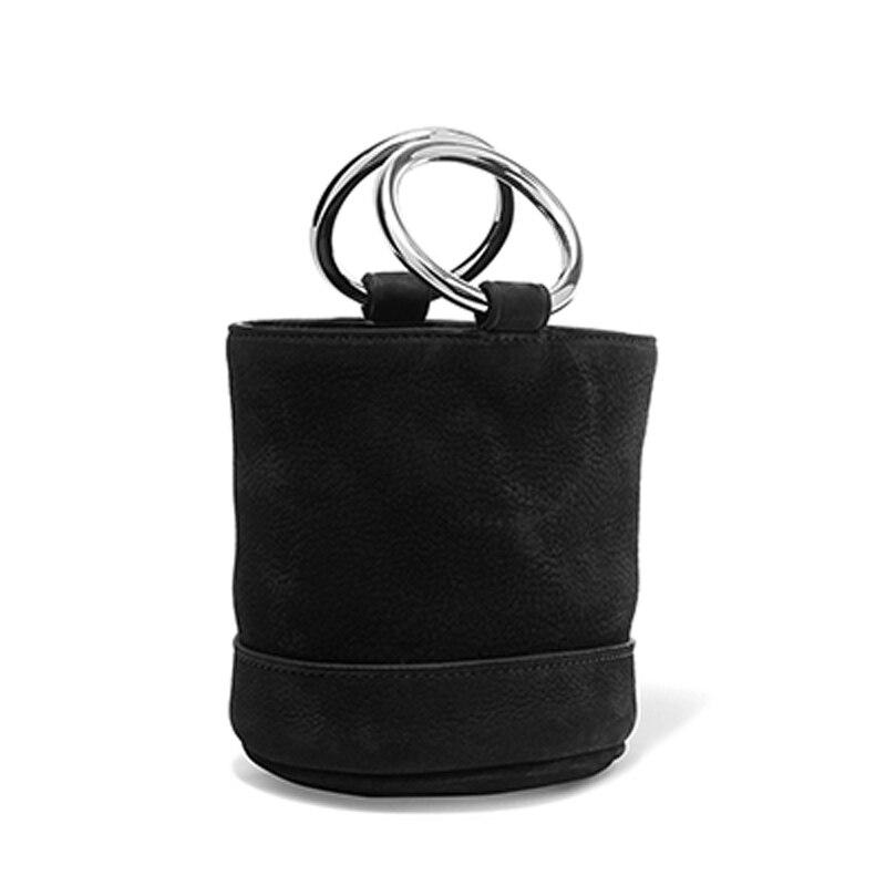 New Arrival Luxury Women Mini Crossbody font b Bag b font Metal Ring PU Handbag Fashion
