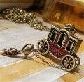 Романтическая сказка Золушка небольшой перевозки марочные красные циркон хрустальные башмачки ожерелье для подруги ювелирные изделия N0545