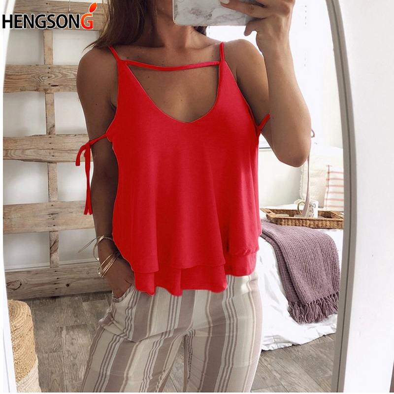 Women's Summer Sexy Camis V Neck Sleeveless Fashion Solid Tops Casual Loose Vest Bralette Female Camisole Vest women