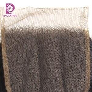 Image 4 - Racily Hair T1B/30 Brown Ombre fermeture brésilienne vague de corps dentelle fermeture avec bébé cheveux 4x4 dentelle fermeture Remy cheveux humains fermeture