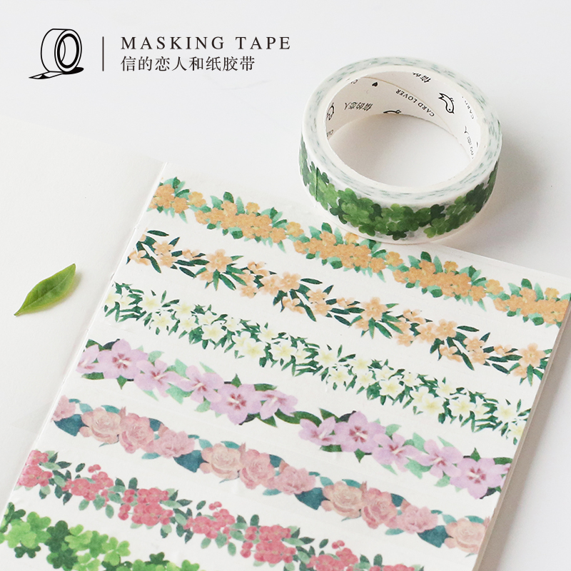Enjoying Flowers Plant Collection Washi Tape Adhesive Tape DIY Scrapbooking Sticker Label Masking Tape семена flowers and plant supermarket