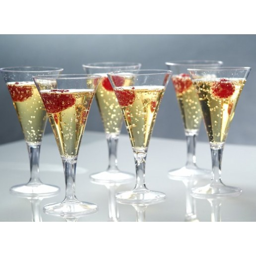 Promotion - Party Wedding Supplies, Disposable Plastic Tableware, 126*60*50mm/80ml Transparent Vintage Champagne Cup, 6/Pack