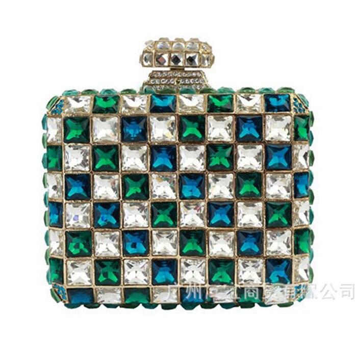 Cristal Sac Same Diamant Minaudières Lady Purse Pictur Multi Mariage As Dames Color D'embrayage Incrusté De Vacances Sacs Soirée color Femmes Pictur Parti Couleur A354jLR