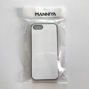 Image 4 - MANNIYA 2D Sublimazione Cassa del telefono bianco per iphone 5/5s/SE CON Inserti in alluminio E nastro di Trasporto Libero! 100 pz/lotto