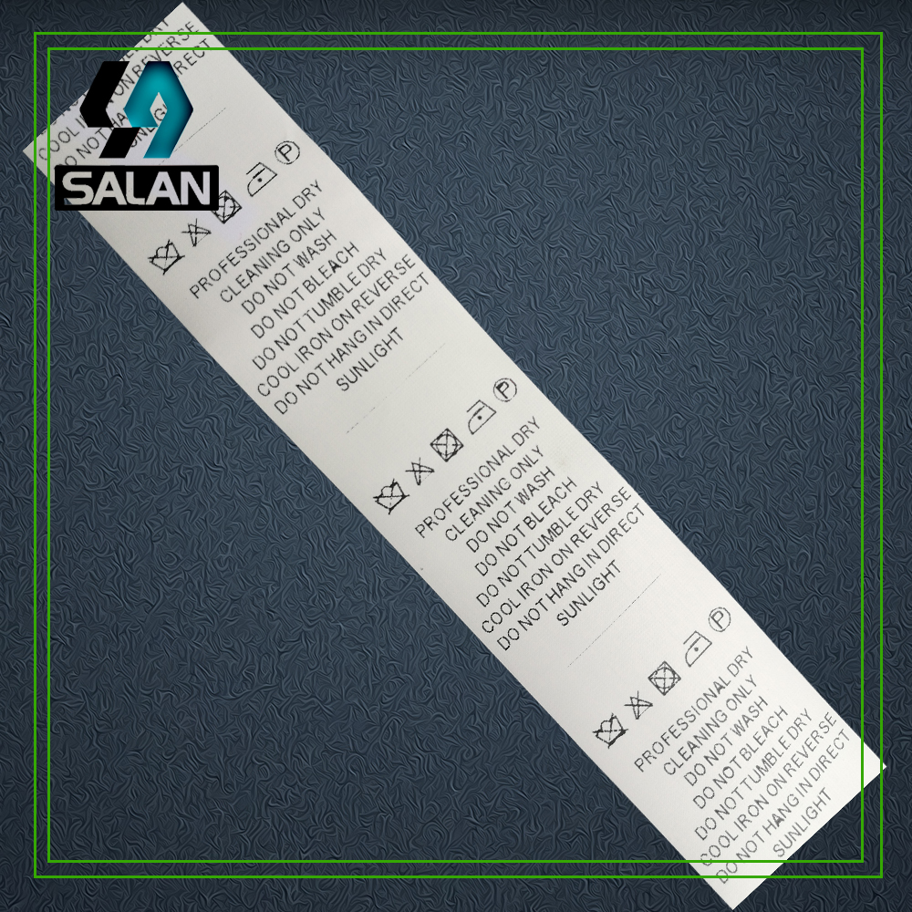 Stock Synthetic Tape Care Labels For Clothes Customized Garment Labels  Clothing Fabric Wash Label Instruction Tag
