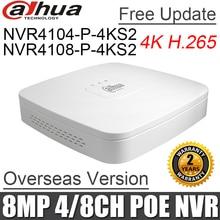 Dahua enregistreur vidéo en réseau, porte poe NVR4104 P 4KS2 NVR4108 P 4KS2, 1080, 4ch, 8ch, 1U, Mini enregistreur vidéo en réseau, nvr, avec 4 Ports POE