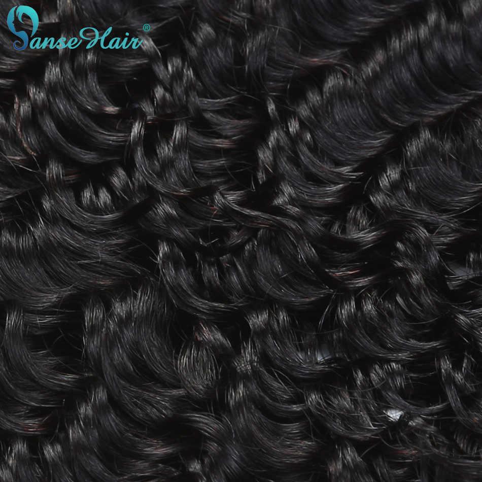 Panse Haar Tiefe Welle Haar 4 Bundles Pro Los Malaysische Menschliche Haar Weben Angepasst 8 zu 30 zoll 1B 100% menschliches Haar Verlängerung