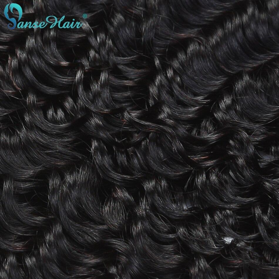 Panse Hair Deep Wave 4 Bundles Per Lot Malaysian Human Hair Weaving - Mänskligt hår (svart) - Foto 2
