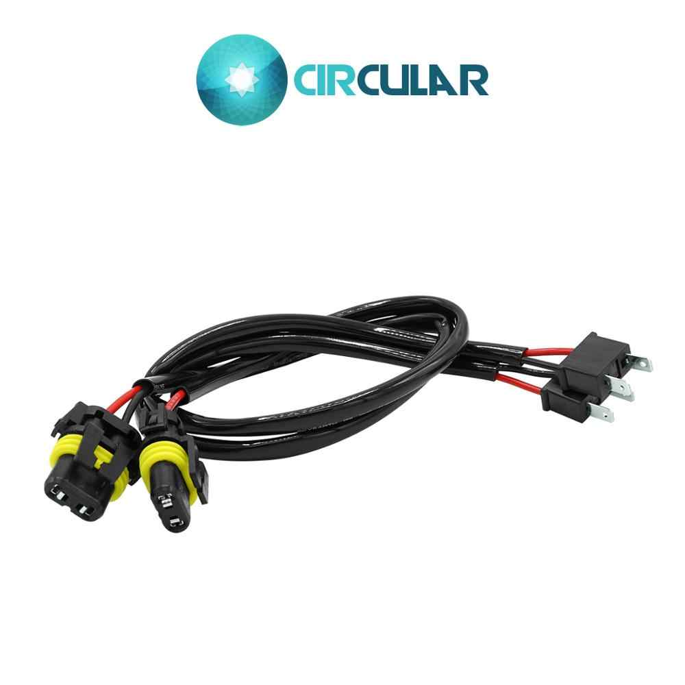 2 Pcs Wire Harness H7 HID Wiring Adapter Conversion Kit Harness HID Xenon Power Cable Connector Ballast Socket