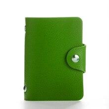 New 24 slots Fashion PU Leather Business Card Holder Organizer Hasp Men Women Bank Credit Card Holder Bag ID Card Wallet HB236c(China)
