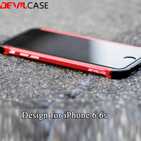 Devilcase新しいタイプx用iphone 6 6 sすべてアルミハイブリッド金属バンパーフレームファッションローズゴールド保護ケースcnc切り抜き6 6 s