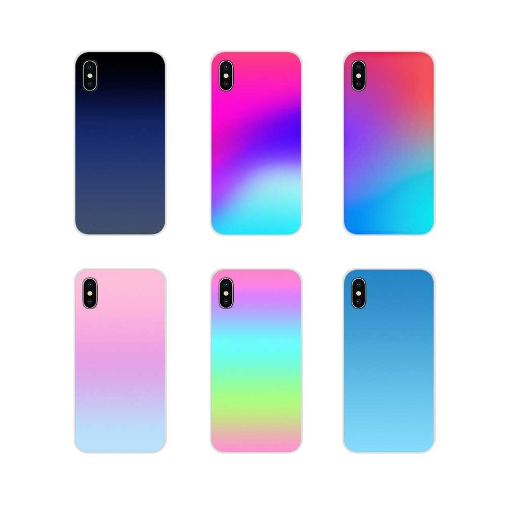 Pour Apple iPhone X XR XS MAX 4 4 S 5 5 S 5C SE 6 6 S 7 8 Plus ipod touch 5 6 étuis souples transparents couvre dégradé changeant de couleurs