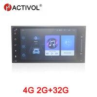 HACTIVOL 2G + 32G Android 8,1 радио автомобиль Toyota Corolla Vios Fortuner hilux camry RAV4 Универсальный dvd плеер автомобиля аксессуар