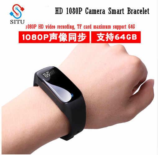 سوار ذكي معصمه HD 1080P كاميرا صغيرة عدسة ساعة كاميرا رياضية ساعة مسجل صوتي Suppot 64 جرام TF بطاقة PK K88