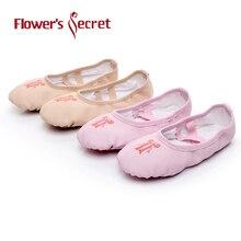 Florile lui Secret Ballet Shoes Pantofi de dans Pantofi de yoga Copii fete Femeile Papuci Conform CM pentru a cumpara