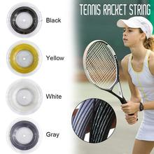 4 Colors Concave Ribbed Tennis Racket Strings Polyester Alu Power Rough 1.25mm 200m/reel Tennis Accessories