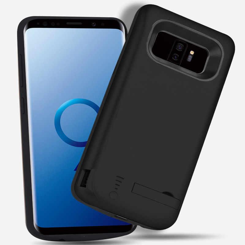 Przypadku ładowarki baterii 6000 mah dla Samsung Galaxy S9 Plus miękka TPU ładowania zasilania telefonu pokrywa dla Samsung S9 baterii przypadku 5000 mah
