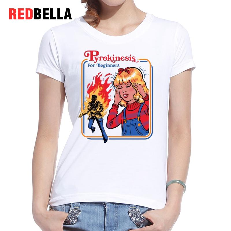 REDBELLA Tee Shirt Femme Vintage Retro 70s 80s Horror Tshirt Cotton Women  Tees Print Casual Poleras De Mujer Moda 2017 T shirt-in T-Shirts from  Women's ...