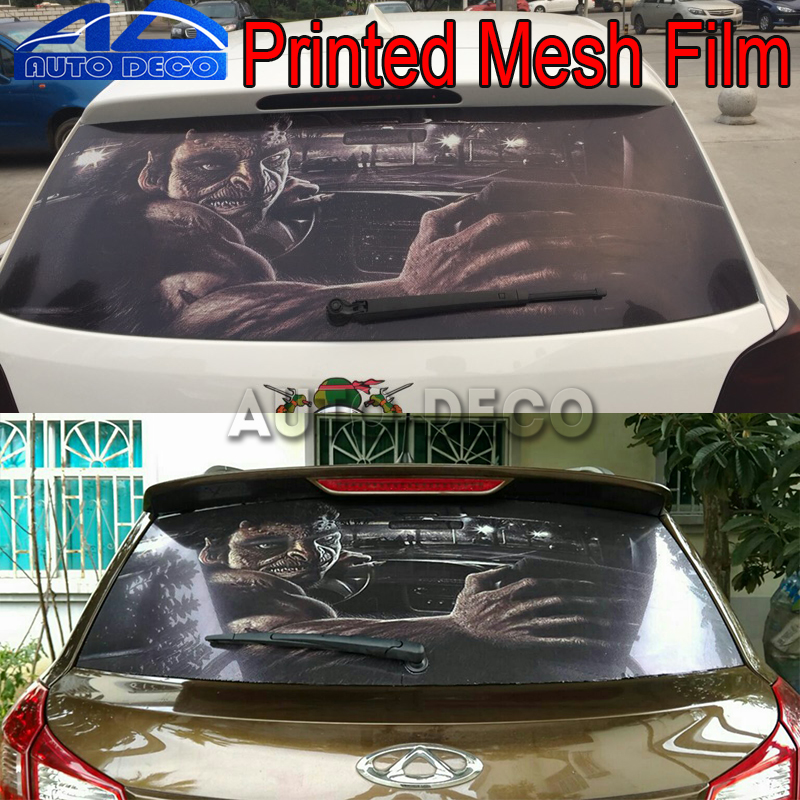 Rear Windshield Decal Stickers Mesh Film One Way Vinyl Car
