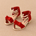 2016 New Hot Summer Sandals Shoes Comfort Children Girls Kids SandalsAnkle-wrap Flat Heels Soft Leather