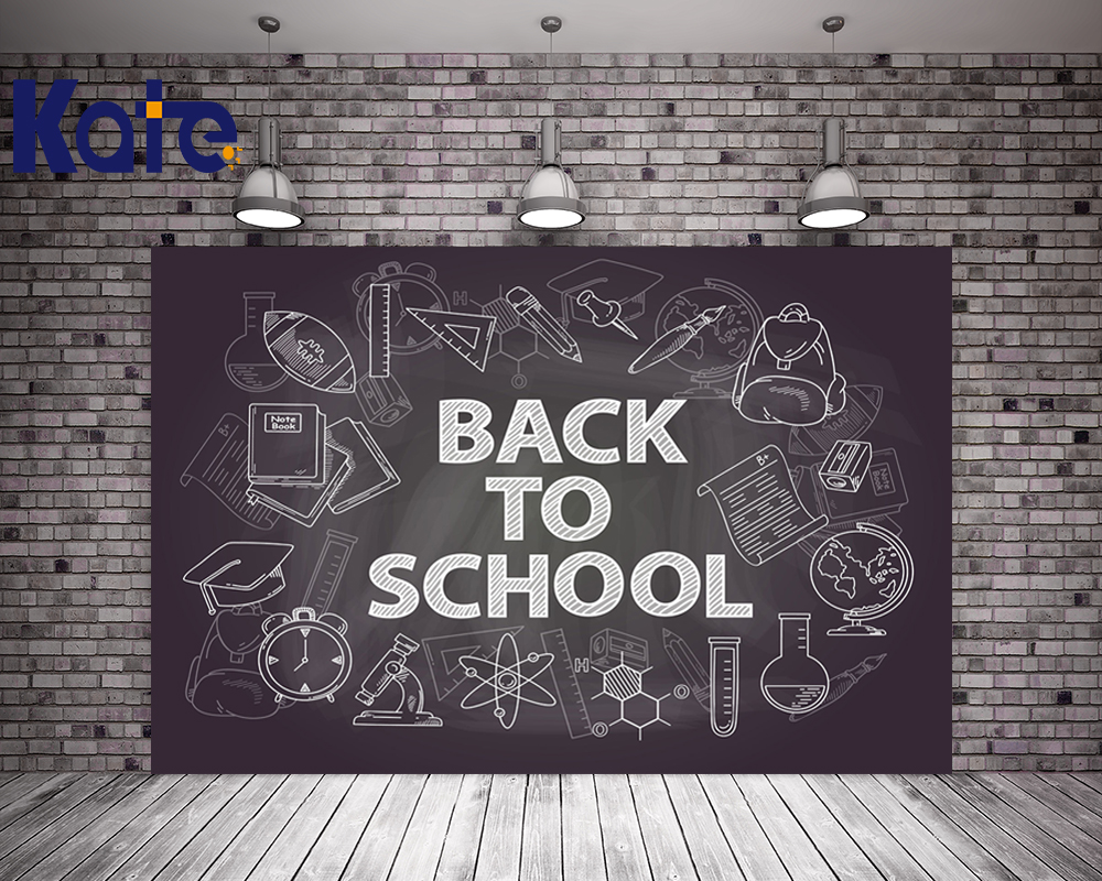 KATE 5x7ft Photo Background Blackboard Backdrops Back to School Photo for Kids Children Party Background Baby Photo for Studio