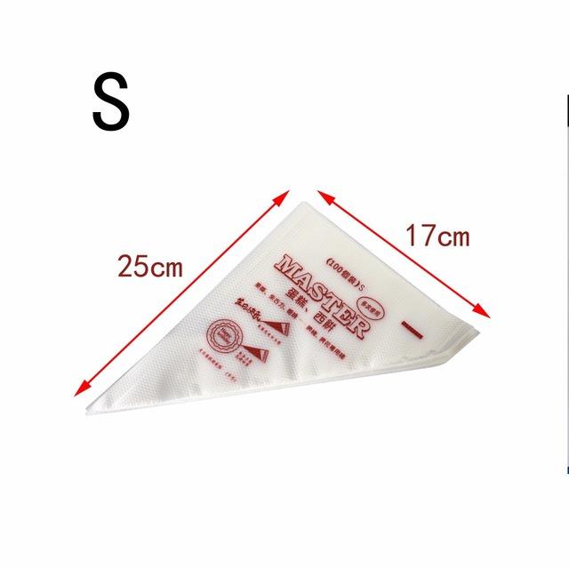 100 pieces/set disposable Pastry nozzle Bags