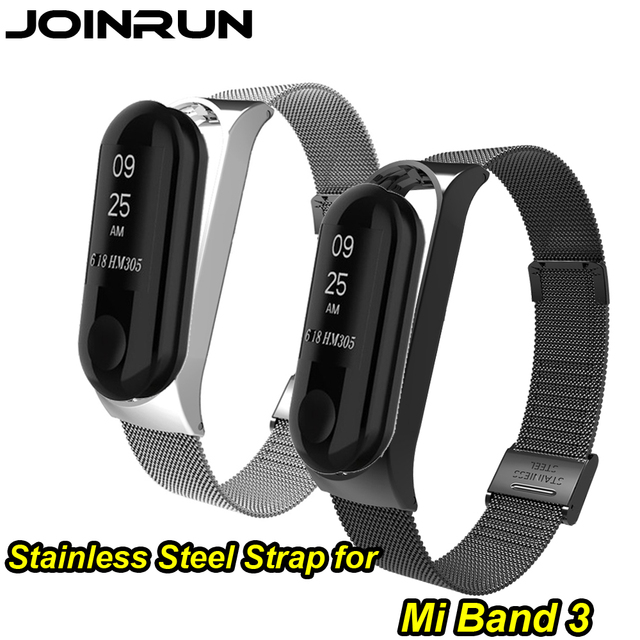 JOINRUN mi Band 3 יד רצועת מתכת ללא בורג נירוסטה לשיאו mi mi Band 3 רצועת צמיד mi band 3 Wristbands Pulseira