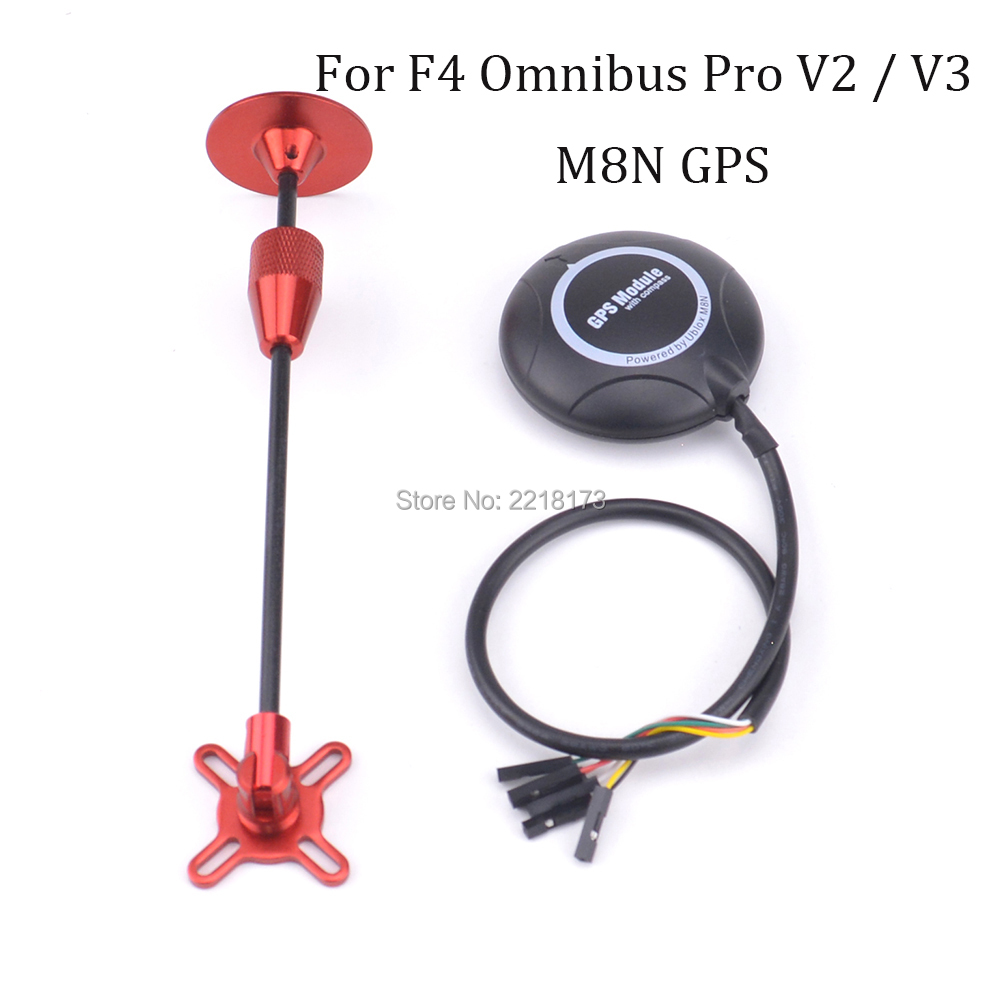 High Precision M8N 8N GPS Built in Compass w/ red Stand Holder for F4 Omnibus V2 / V3 Pro Flight Controller for Drone omnibus f4 pro corner v1 1 flight controller build in current sensor