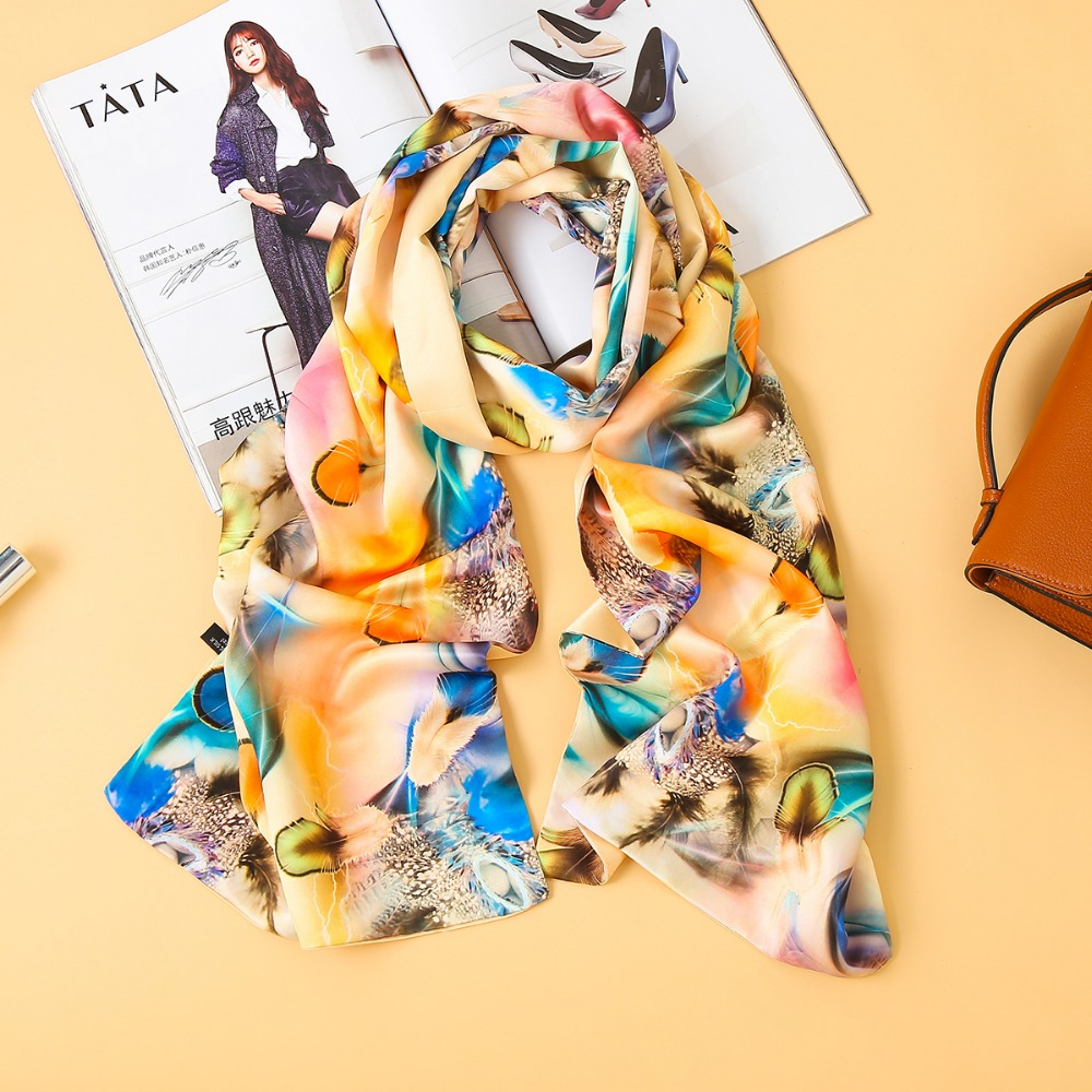 2f7a74bac4f3 [BYSIFA] Новый Роскошный натуральный шелковый шарф, Женская шаль  Демисезонный длинные шарфы для женщин