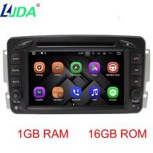 LJDA 7″ 2DIN ANDROID 7 Car DVD Player For Mercedes Benz CLK W209 W203 W168 W208 W463 Vaneo Viano Vito GPS Navigation Auto Radio