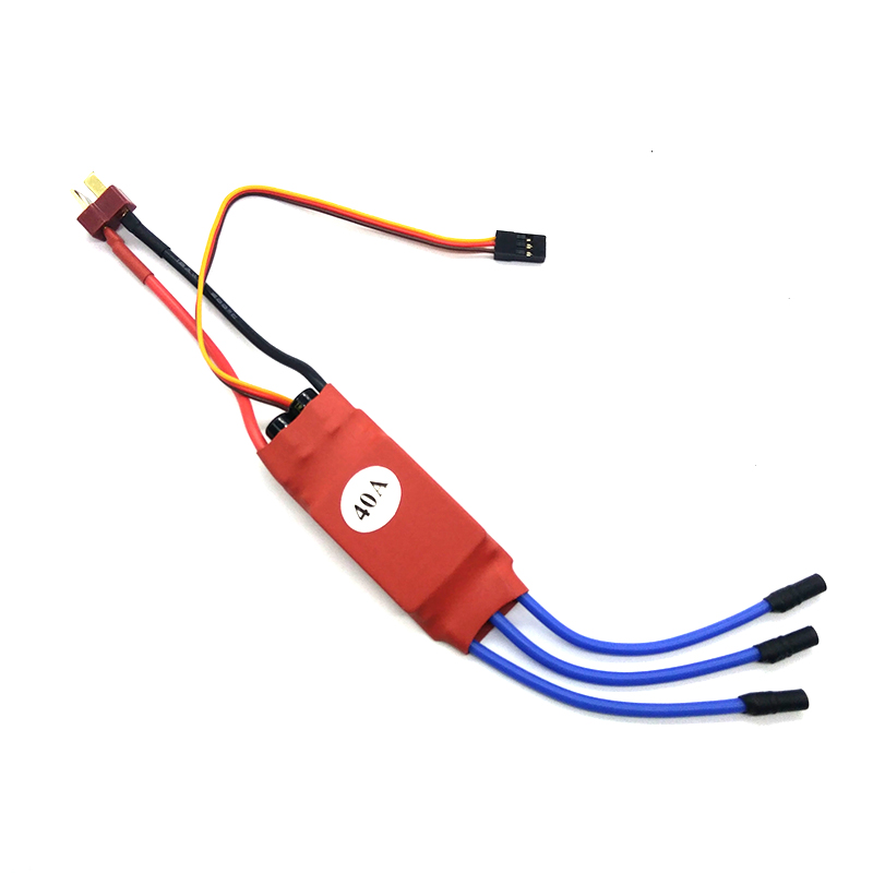 40A Brushless high quality RC BEC ESC Brushless Motor Speed Controller T-rex 450 V2 Helicopter Boat Airplanes Parts Rubber head dual mode drive brushless motor speed controller esc