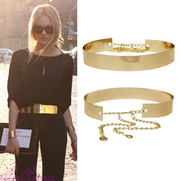 comprar online 01b07 97a45 Metal del oro cinturones para para espejo correa de cintura ...