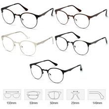 Fashion Optical Glasses Eyeglass Frame Men Women Vintage Spectacles Clear Metal