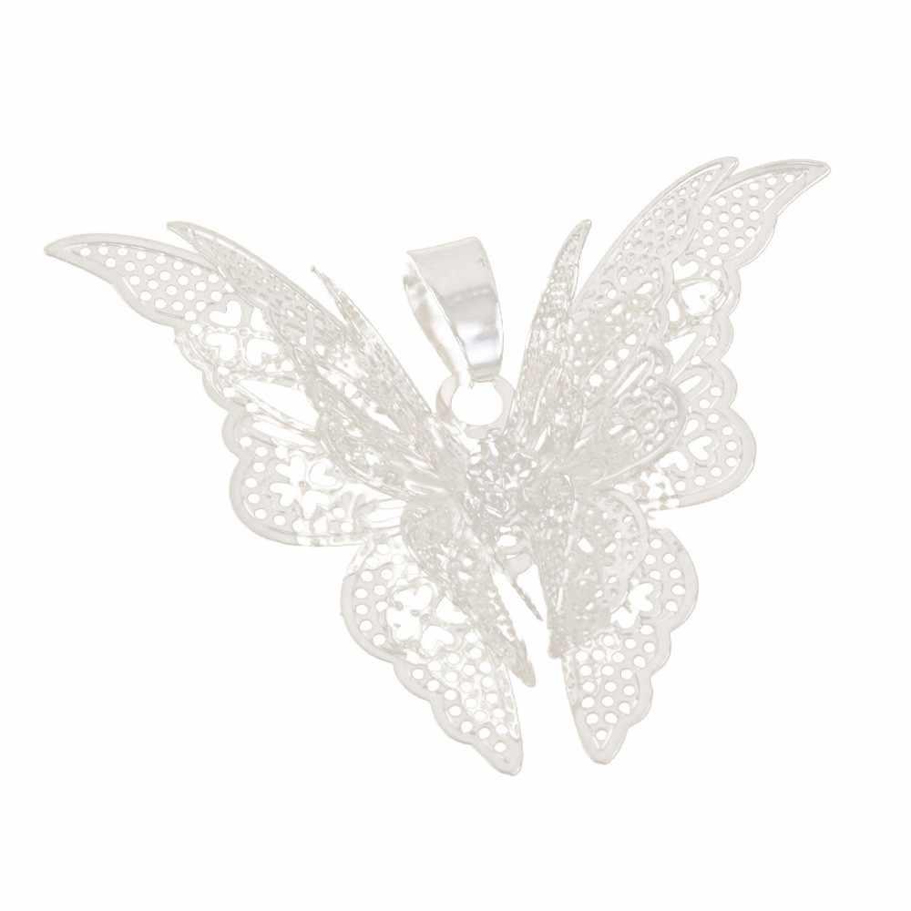 2019 New Hot retro bohema biżuteria elegancki Hollow wisiorek z motylem Chain naszyjniki kobiety akcesoria do biżuterii hurtowych wszystko mecz