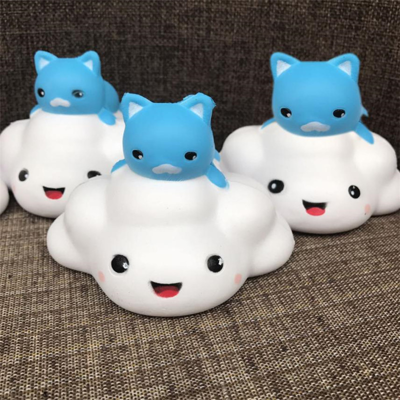Cat clouds Squishy Slow Rising Phone Strap Kid Fun Toys Squeeze Soft Bread Cake Desk Decoration Stress Reliever Nice Gifts *#30