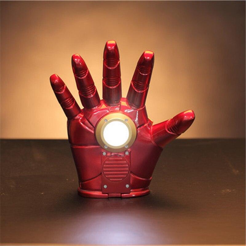 2019 Marvel Avengers fer homme gant avec Led Ironman gants PVC figurine à collectionner modèle jouet Brinquedos Cosplay jouets
