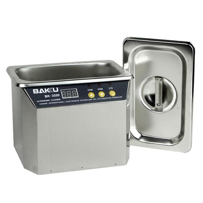 1pc Stainless Steel Ultrasonic Cleaner BK-3550 220V/110V For Communications jewelry/glasses Ultrasonic Cleaner Equipment цена