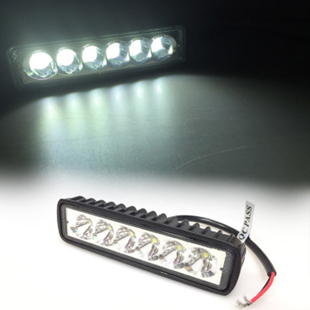 EURS Motorcycle Led strip lights 6led lamp 6500k 18W 1420lm off road Engineering auxiliary work light Excavator Led headlights