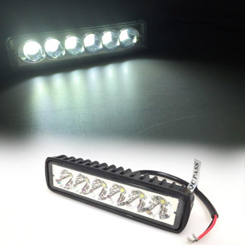 EURS Motorrad Geführte streifenlichter 6led lampe 6500 karat 18 Watt ...